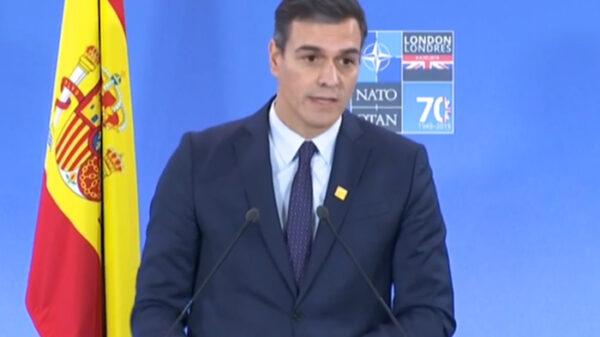 Pedro Sánchez en la cumbre de la OTAN