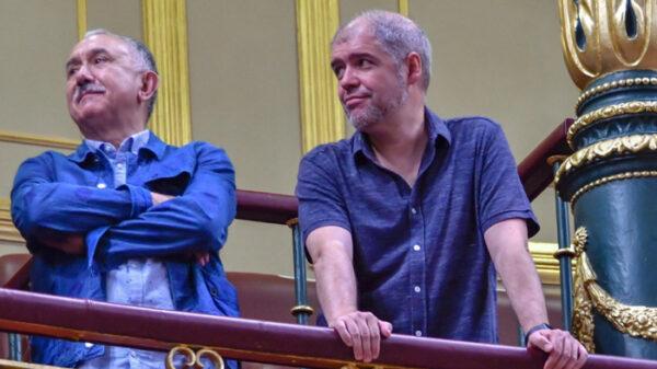 Pepe Álvarez y Unai Sordo, líderes de UGT y CCOO respectivamente