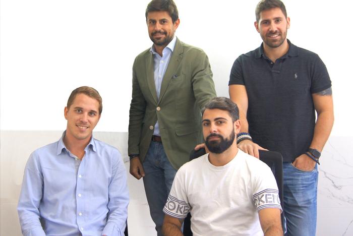 De izquierda a derecha, Marc Colonques, Joan Sintes, Alejandro Trepat y Miguel Martín