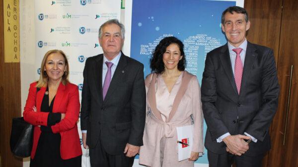 De izquierda a derecha, la doctora Ayuso, Garesse, Chavarría y Álvaro de la Parra