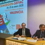 Jesús C. Gómez Martínez, presidente de SEFAC, y Luis González Díez, presidente del COFM