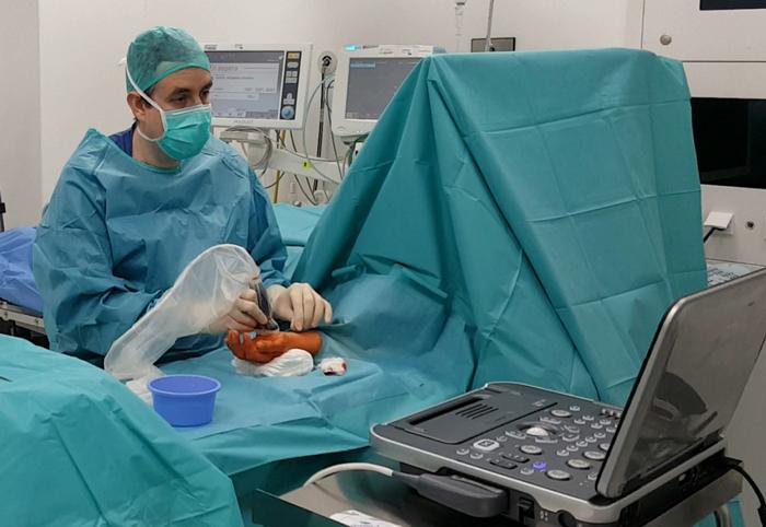Un momento de una de las intervenciones a cargo del doctor Vivanco