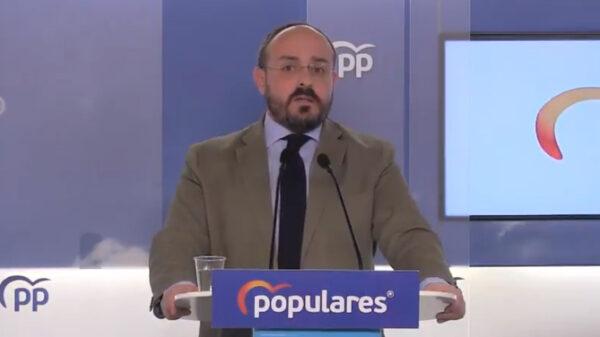 Alejandro Fernández, presidente del PP de Cataluña