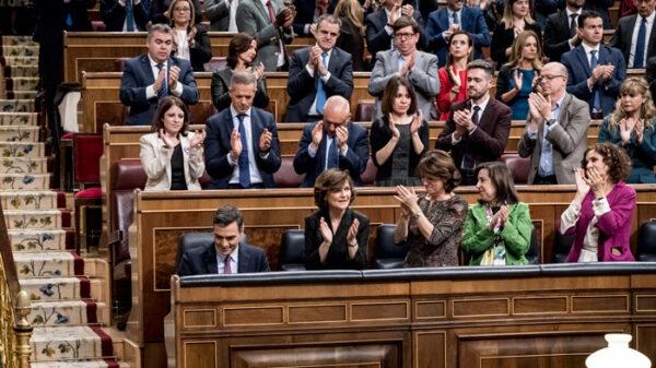 La bancada del PSOE en el Congreso