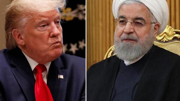 El presidente de EEUU, Donald Trump, y el de Irán, Hasán Rohaní