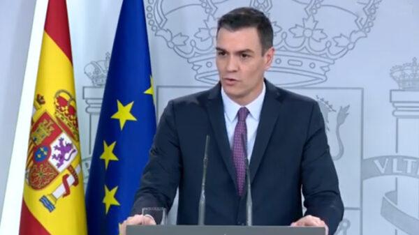 Pedro Sánchez durante su comparecencia tras el Consejo de Ministros
