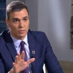 Pedro Sánchez en su entrevista para TVE