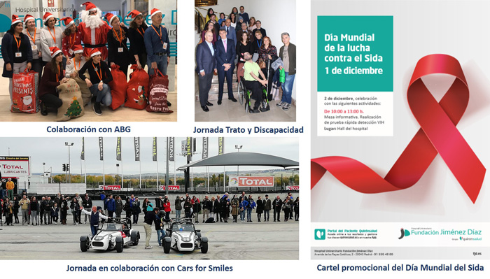 Imágenes de algunas de las más de 60 actividades dirigidas a la sociedad civil organizadas en 2019 por la FJD