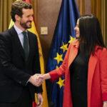 Inés Arrimadas y Pablo Casado