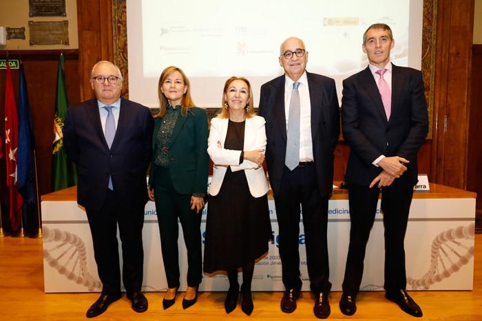 De izquierda a derecha, Manuel de la Puente, Consuelo Martín de Dios, la doctora Carmen Ayuso, Federico Plaza y Juan Antonio Álvaro de la Parra