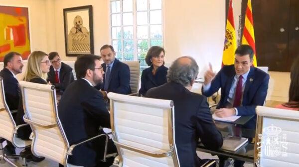 La mesa de diálogo, reunida en Moncloa