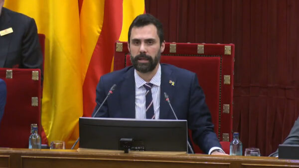 Roger Torrent, presidente del Parlamento catalán