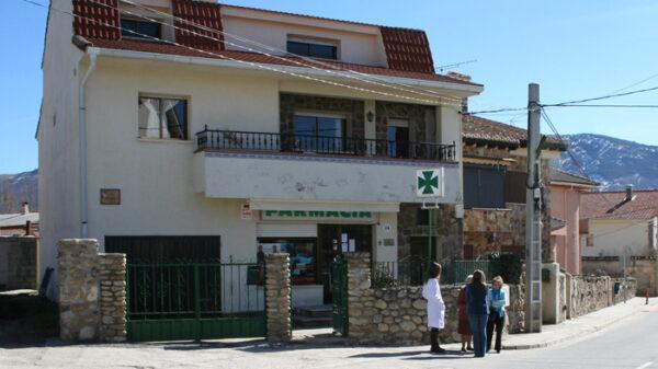 Farmacia rural en una foto de archivo
