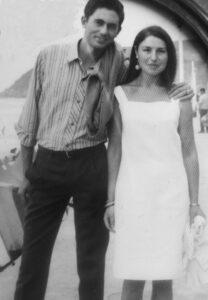 Manuel Dávila y su mujer, Isabel, cuando eran novios
