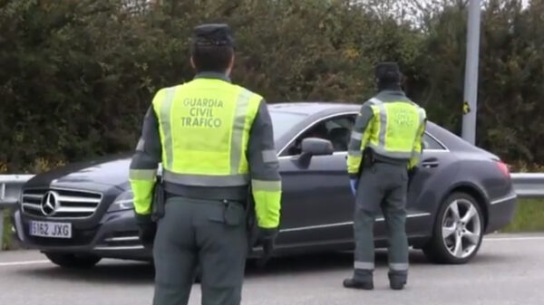 Control de la Guardia Civil en estado de alarma