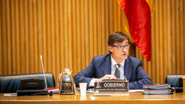 El ministro Salvador Illa en la comisión del Congreso