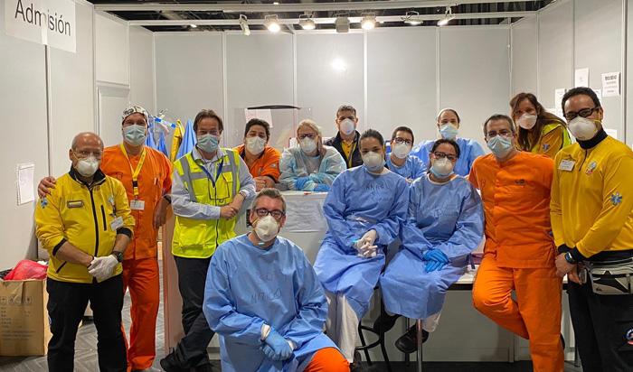 Personal sanitario del hospital de Ifema