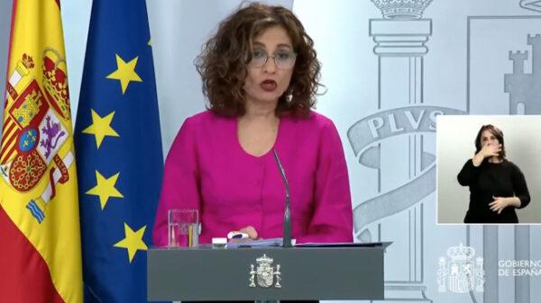 La ministra portavoz María Jesús Montero