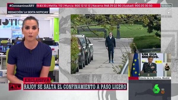 Mariano Rajoy saltándose el confinamiento