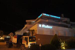 Desinfección del hospital Ruber Internacional