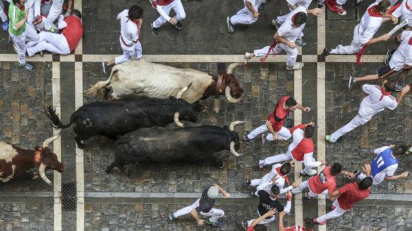 Encierro de San Fermín en Pamplona