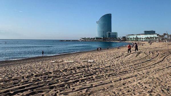 Playa de la Barceloneta, en Barcelona