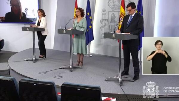 Los ministros Illa, Montero y Ribera