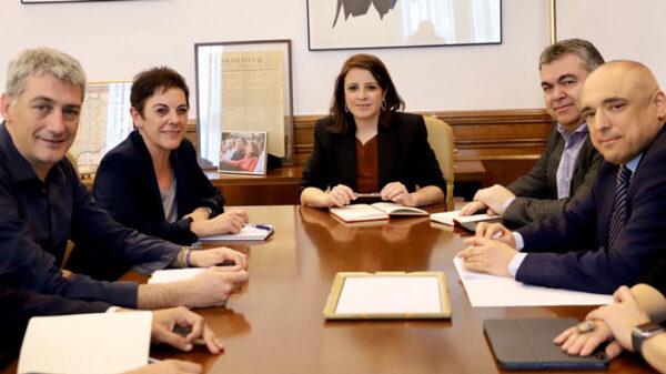 Reunió entre Bildu y PSOE en febrero de 2020