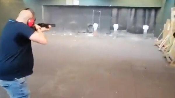 Fragmento del vídeo disparando a miembros del Gobierno