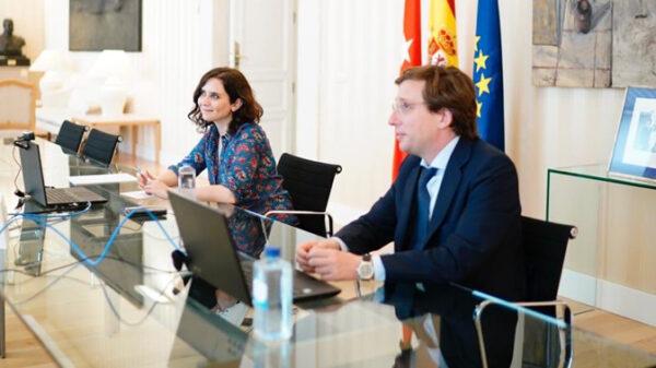 La presidenta de la Comunidad de Madrid, Isabel Díaz Ayuso, y el alcalde de Madrid, José Luis Martínez Almeida