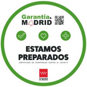 Certificado Garantía Madrid