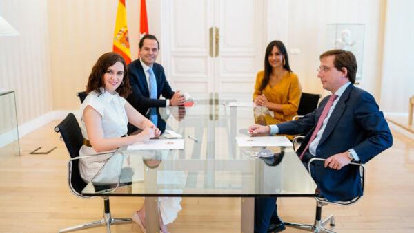 Díaz Ayuso, Aguado, Martínez Almeida y Villacís