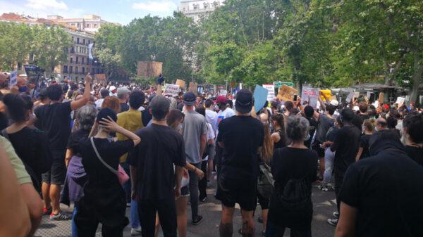 Manifestación contra el racismo en Madrid