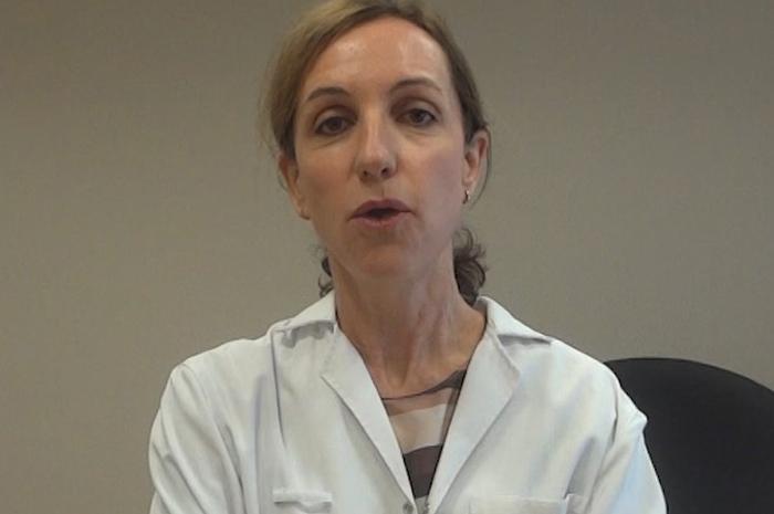 La doctora María Calvo