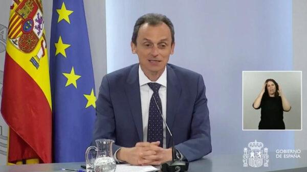 El ministro de Ciencia, Pedro Duque