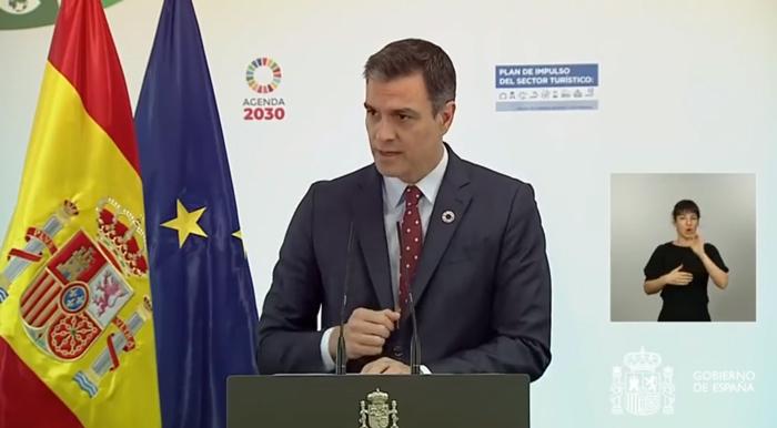 Pedro Sánchez presenta el plan de ayuda al turismo