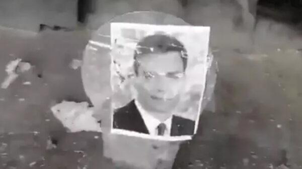 Fotograma del vídeo en que disparan a Sánchez y otros miembros del Gobierno