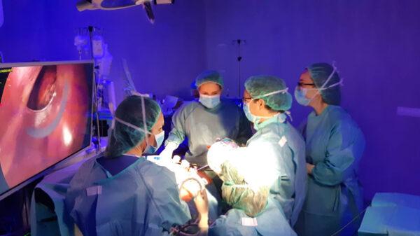 Unidad de Cirugía Hepatobiliopancreática del Hospital Infanta Elena en quirófano