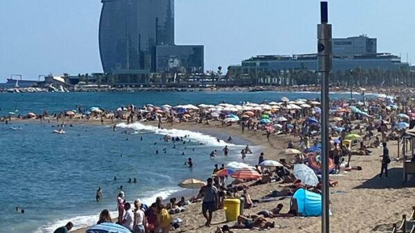 La playa de la Barceloneta, en Barcelona