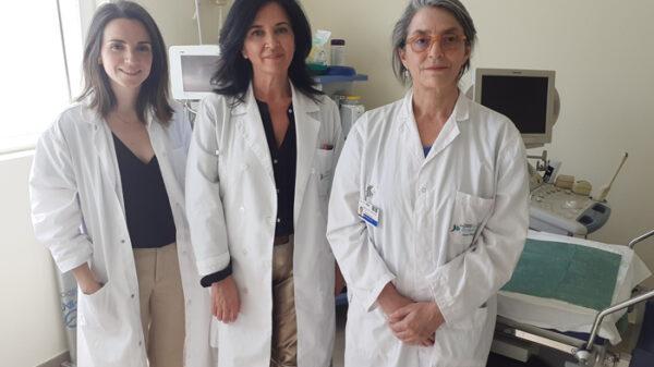 De izquierda a derecha, las doctoras Arango, Hernández y Rodríguez, de la Unidad de Reproducción Asistida de la FJD