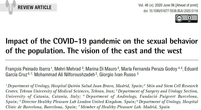 Estudio sobre Covid-19 y relaciones sexuales