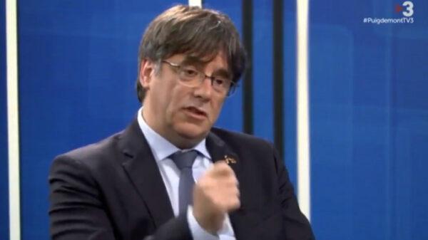 Carles Puigdemont en una entrevista