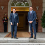 Pedro Sánchez y el primer ministro italiano, Giuseppe Conte