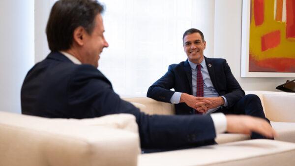 Pedro Sánchez, reunido con Giuseppe Conte, primer ministro de Italia