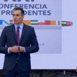 Sánchez minutos antes del inicio de la Conferencia de Presidentes