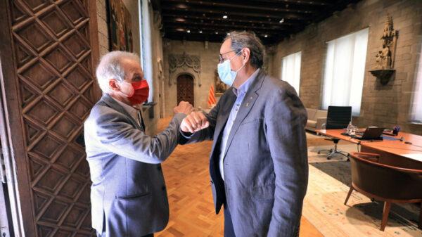 El presidente de la Generalitat, Quim Torra, en un acto