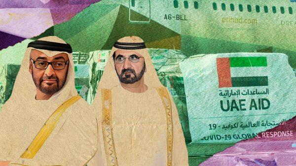 Mohamed Bin Zayed Al Nahyan, príncipe heredero de EAU, y Mohamed bin Rashid Al Maktoum, líder de Dubai